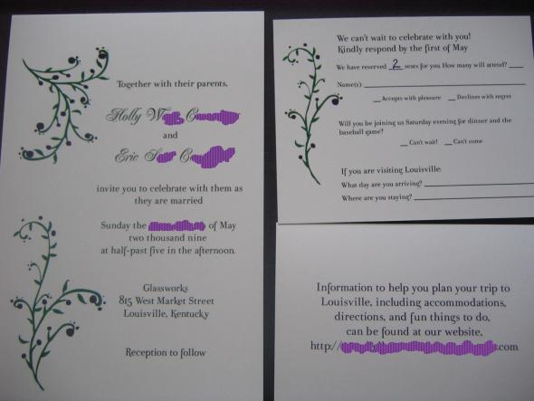 HWong14's DIY Invitation Suite