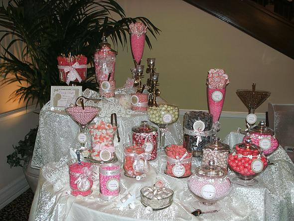 A beautiful Pink Candy Buffet
