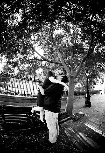 Jackson Square Engagement Picture