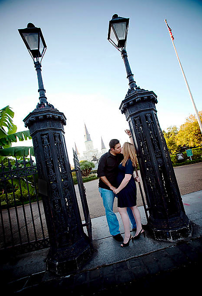 St. Louis Cathedral Engagement Pictu