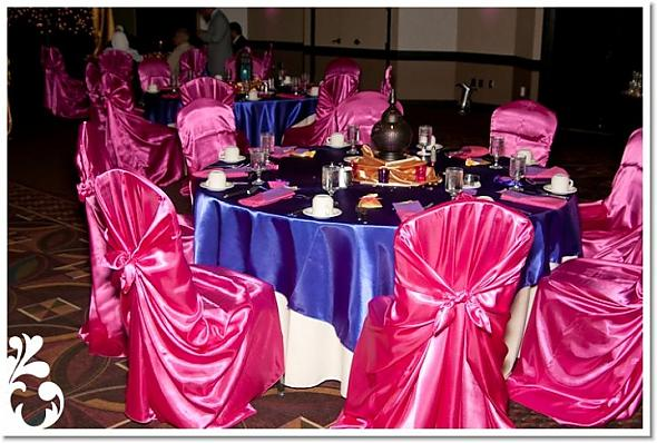 My Big Fat Arab American Wedding Reception table decor