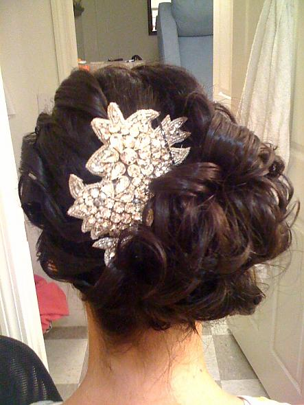 Wedding Day Hair Posted 1 year ago by mrsdemps in Bridesmaids Dress