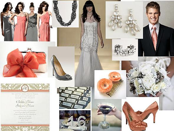 Peachy Silver Inspiration Board