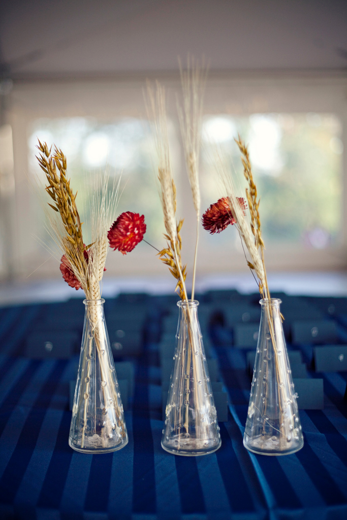 Dried Flowers And Wheat Centerpieces Weddingbee Photo Gallery