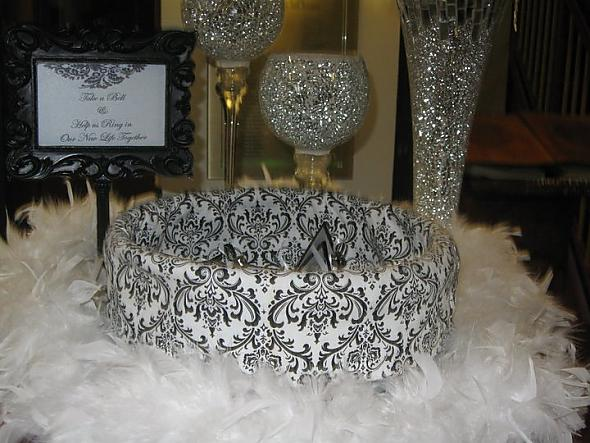 damask feather wedding reception rose wedding centerpieces