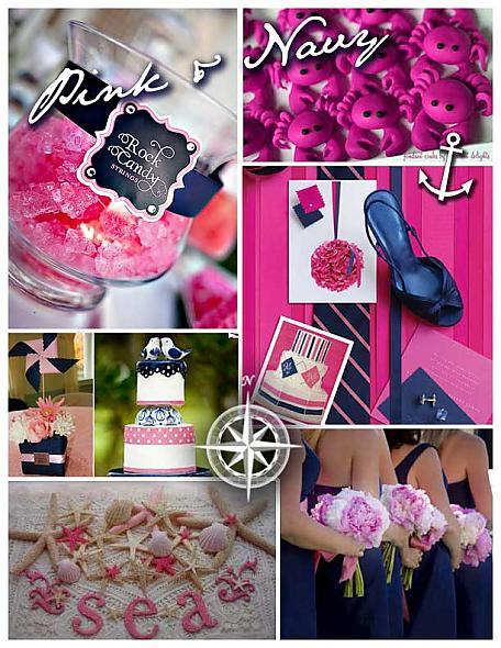 A Pink and Navy Blue Nautical Wedding