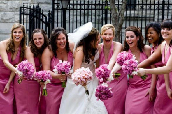 Dusty Rose Pink Bridesmaid Dresses