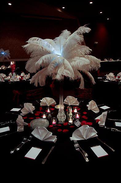 Ostrich Feater Centerpieces