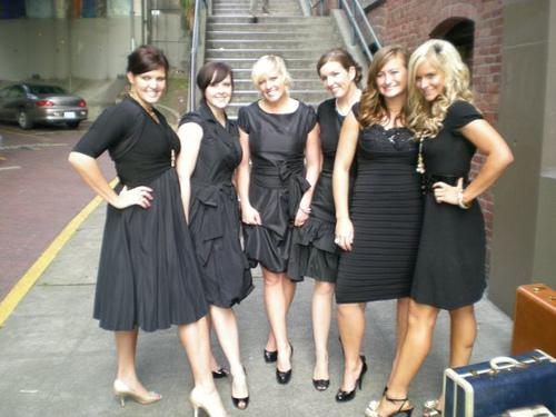 Trendy Black Bridesmaid Dresses 2010/2011