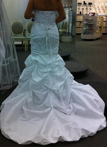 My dress!  Second pic!