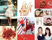 "Candace C.'s red-and-blue ""A Home Style Wedding"" inspiration board"