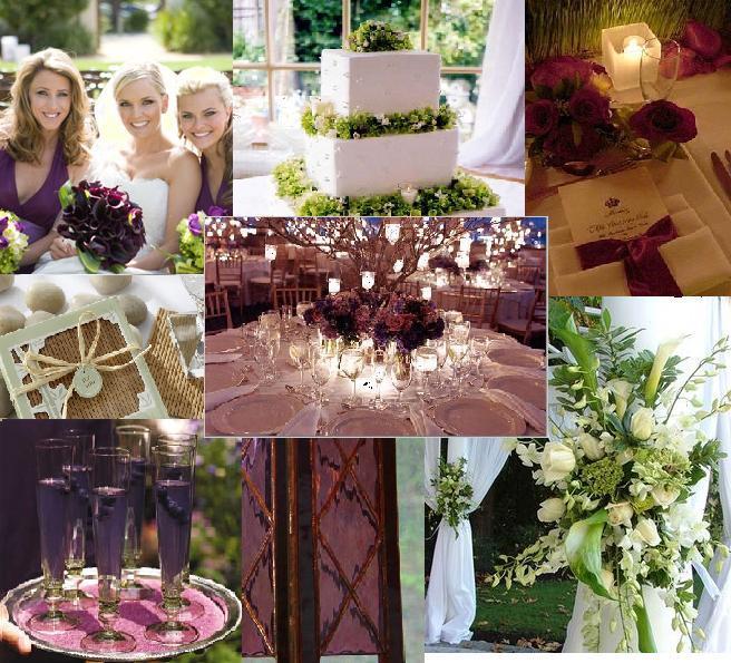 Teri's Purple & Green Antique-y Summer Night Wedding