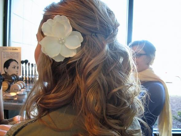 Half Up Do with Flower Part I