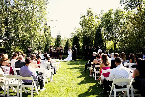 Simple outdoor ceremony