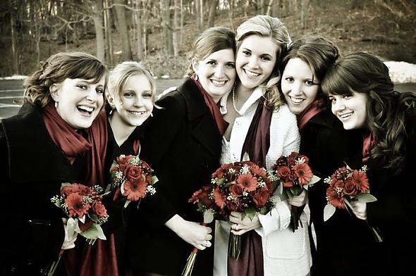 Winter weddings give way to fun acce
