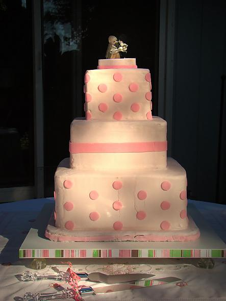 Polka Dot Cake - That Almost Wasn't