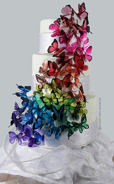 butterfly cake topper found at butterfly-bazaar.com