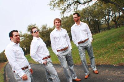 Destination Wedding Groomsmen Attire - wedding cake