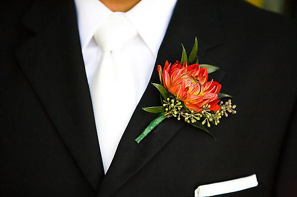 Mrs. Lime's Groom Boutonniere