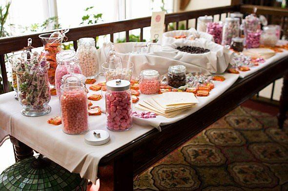 candy buffet wedding. Our candy buffet table
