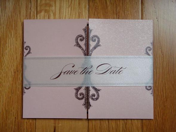 Brown Studio did my Save the Date for my pink brown and cream wedding