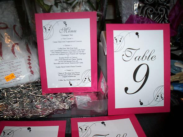 Menu,Table numbers
