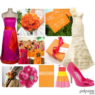 Pink and Orange Inspiration Board