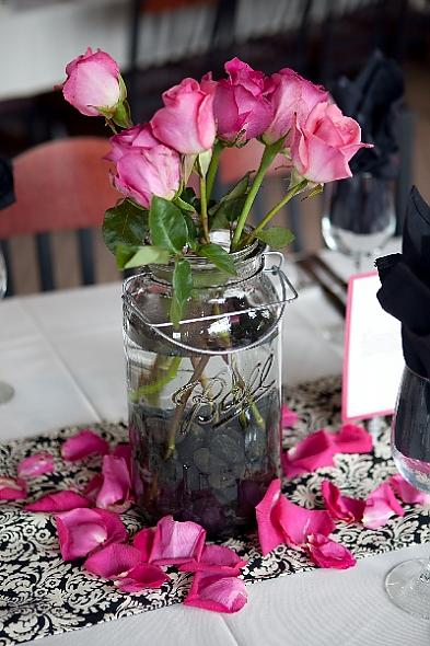 River+rock+wedding+centerpieces