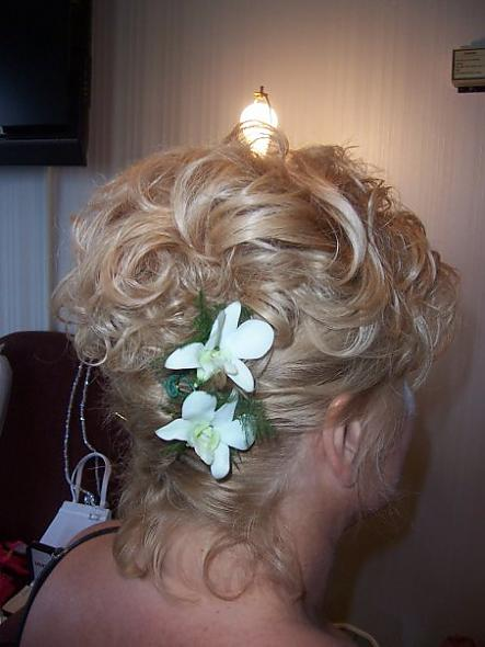 MOB hair,French twist,orchids