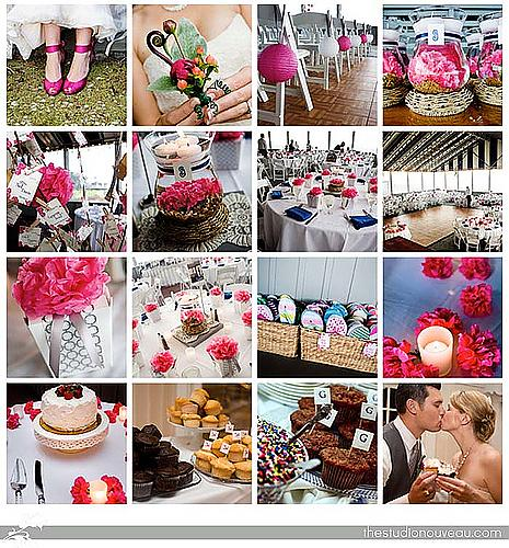 Pink Grey NavyInspiration Board from our Wedding