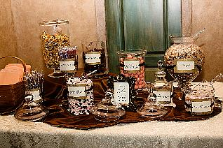Candy Buffet in Pink & Brown
