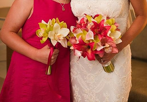 Fuchsia Tiger Lily Dendrobium Orchid Bouquet Bridesmaid bridal bouquets