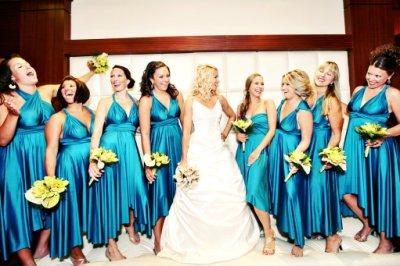 Teal Bridesmaid Dresses on Alicia S Butter By Nadia Bridesmaid Dresses    Weddingbee Gallery