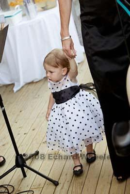Black Bridesmaid Dress on Polka Dotted Flower Girl Dress    Weddingbee Gallery