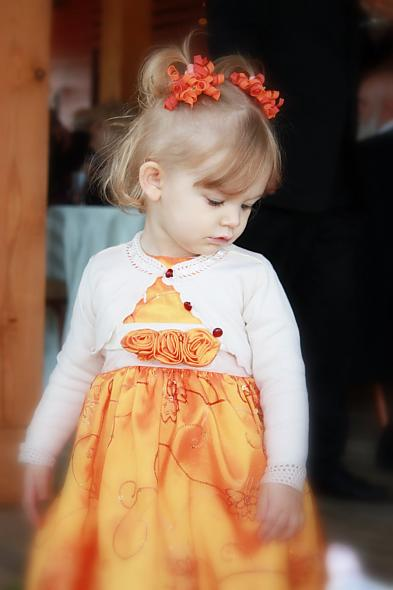 Orange Flowergirl