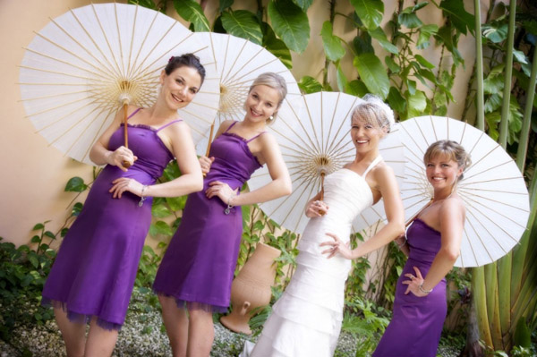 Mrs. Sea Breezeu0027s Purple Destination Wedding Bridesmaid Dresses |  Weddingbee Photo Gallery