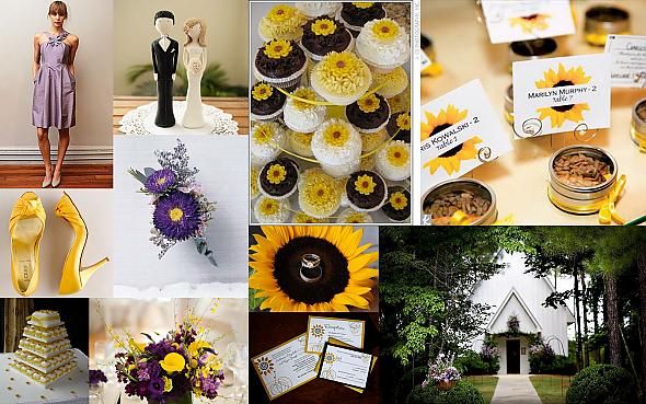 Sunflower and Lavender Wedding My MOH BFF just got engaged so I created an