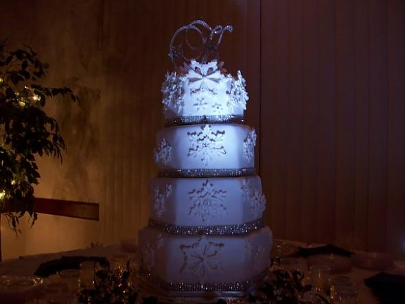 Wedding Cake Snowflake Winter Wonderland