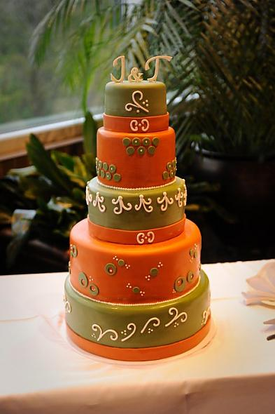 Green Orange Wedding Cake We wanted something nontraditional and this
