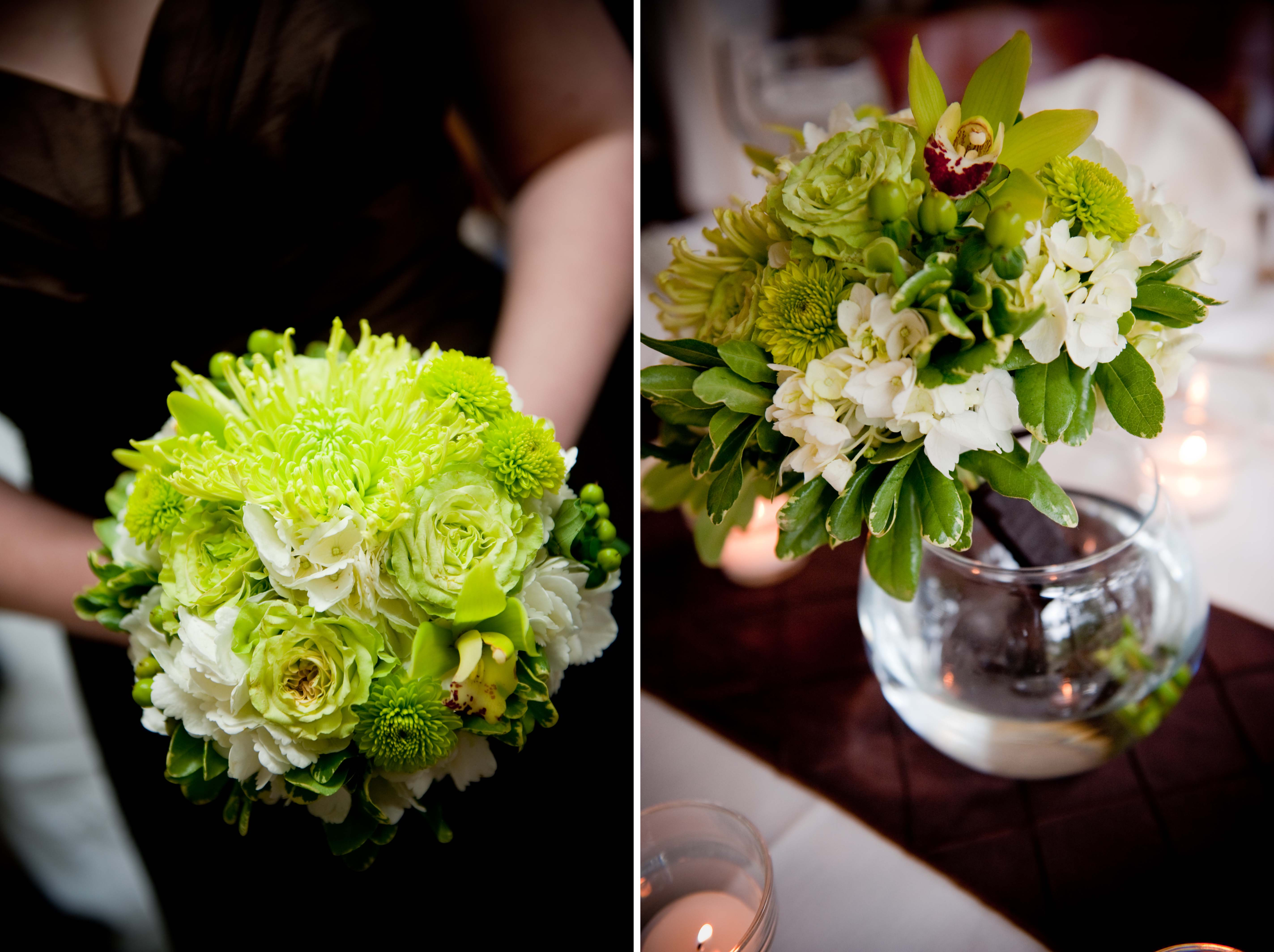 green bridesmaid bouquet Weddingbee Photo Gallery