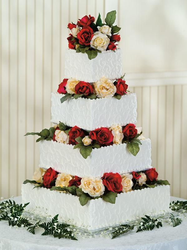 Simply Devoted Wedding Cake