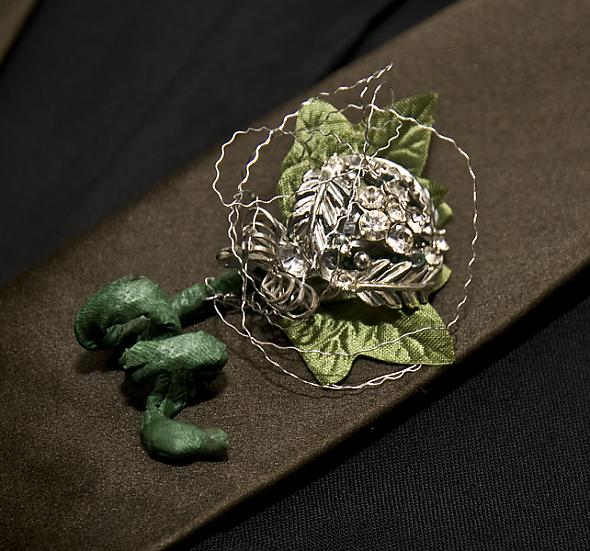 Brooch Boutonniere for the Groom