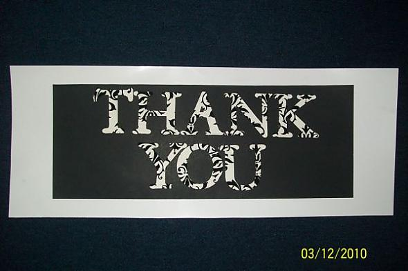Thank you sign for wedding photos...