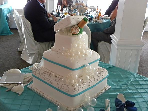 Champagne  bubbles wedding cake!