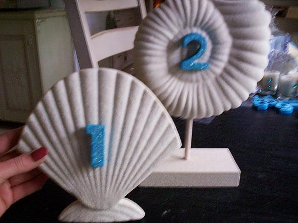Beach shell table numbers