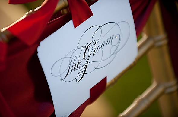 Groom chair sign