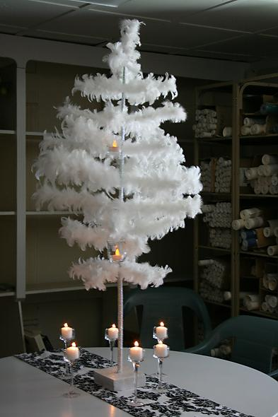 Feather Tree Centerpiece Mockup