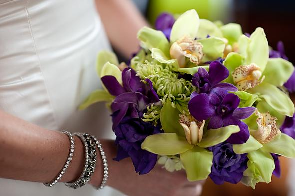 Purple and Green Bridal Bouquet posted by mizrunzou 1 year ago love it