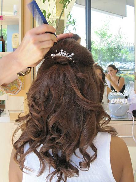 My Half Up/Half Down Wedding Hairstyle « Weddingbee Gallery