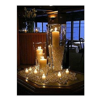 Black  White Wedding Dress on Reception Table Centerpieces    Weddingbee Gallery
